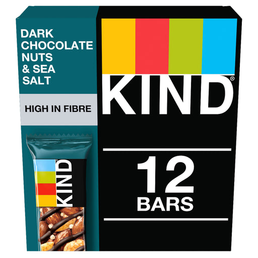 KIND Dark Chocolate Nuts & Sea Salt nut bar 40g - Case of 12 Multisave
