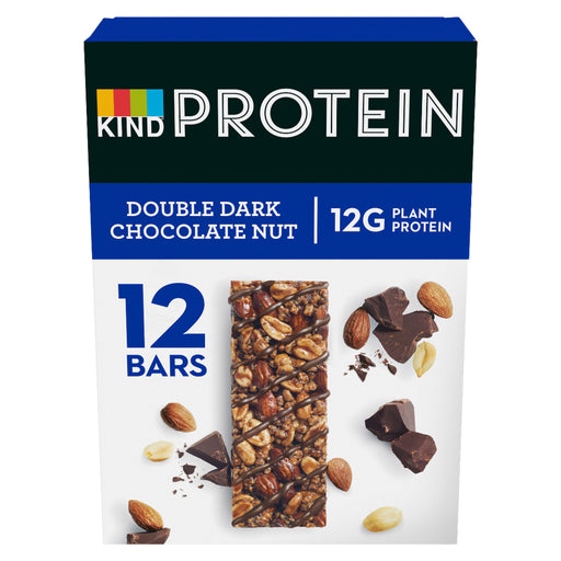 KIND Protein Double Dark Chocolate Nut bar 50g - Case of 12 Multisave (Best Before Date: 10/10/2020)