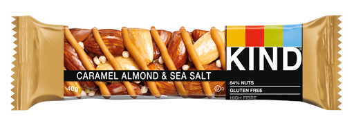 KIND Caramel Almond & Sea Salt nut bar 40g (Best Before Date: 07/10/2020)