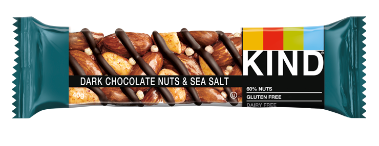 KIND Dark Chocolate Nuts & Sea Salt nut bar 40g
