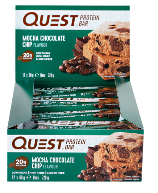 Quest Mocha Chocolate Chip flavour Protein bar 60g - Case of 12 Multisave