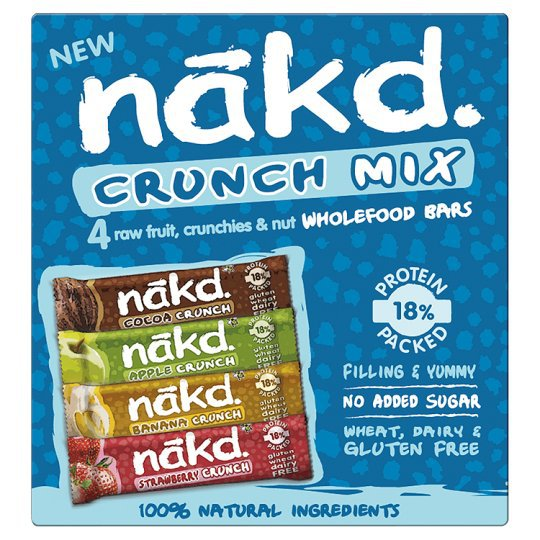 Nakd Bars Crunch Mix 4 x 30g Multipack (Naked)