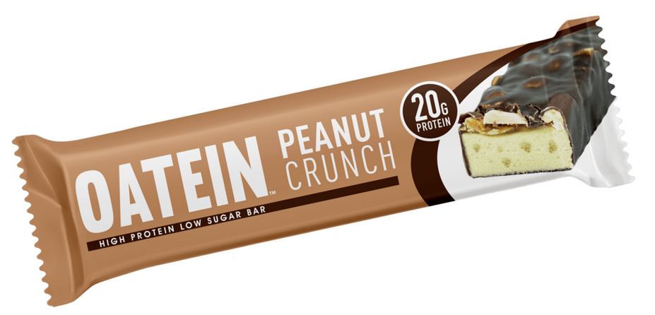 Oatein Peanut Crunch Low Sugar Protein Bar 60g (Best Before Date: 12/05/2019)