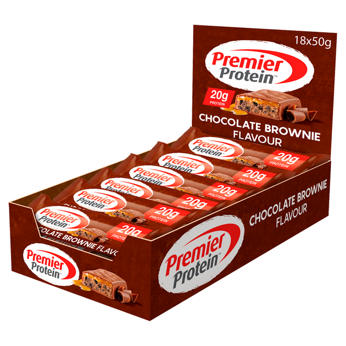 Premier Protein Chocolate Brownie flavour Protein bar 50g - Case of 18 Multisave