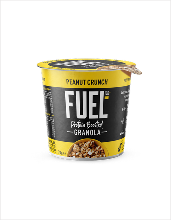 Fuel10K Peanut Crunch flavour Protein Boosted Granola pot 70g - Case of 8 Multisave (Best Before Date: 16/01/2021)