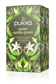Pukka Sweet Vanilla Green Tea - 20 tea bags per pack