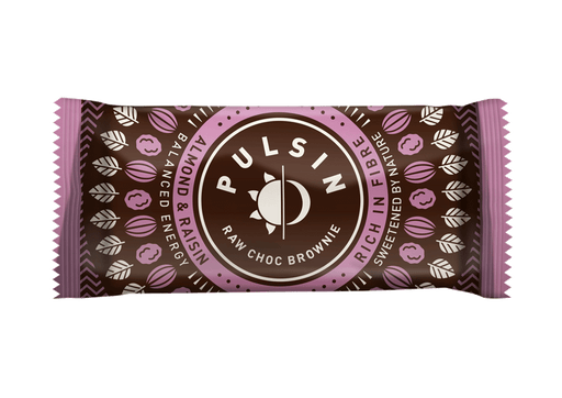 Pulsin Almond & Raisin Raw Choc Brownie 50g