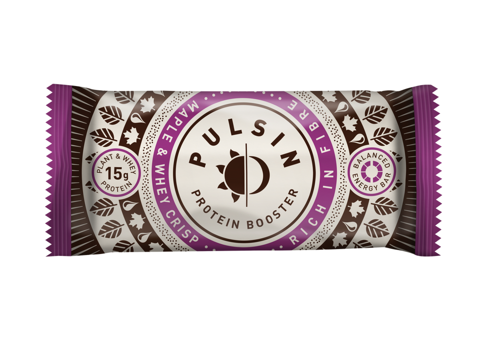 Pulsin Maple & Whey Crisp Protein Booster Bar 50g (Best Before 31/01/2019)