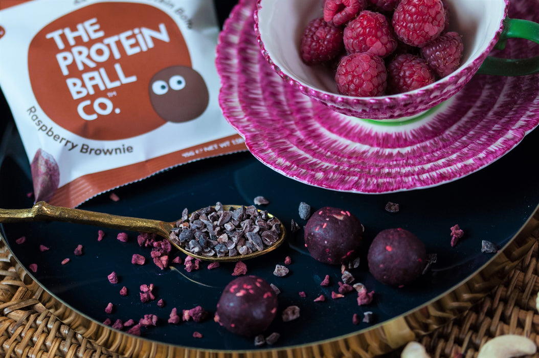 Protein Ball Co. Raspberry Brownie Protein Balls 45g - Case of 10 packs Multisave (Best Before Date: 31/01/2020)