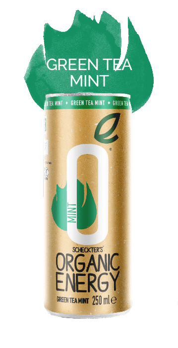 Scheckter's Sparkling Mint & Green Tea Organic Energy Drink 250ml - Single Can