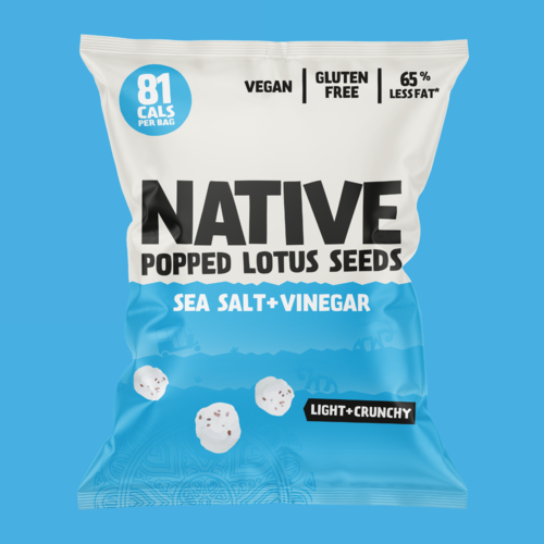 Native Salt & Vinegar Popped Lotus Seed Snacks 20g (Best Before Date: 15/10/2020)