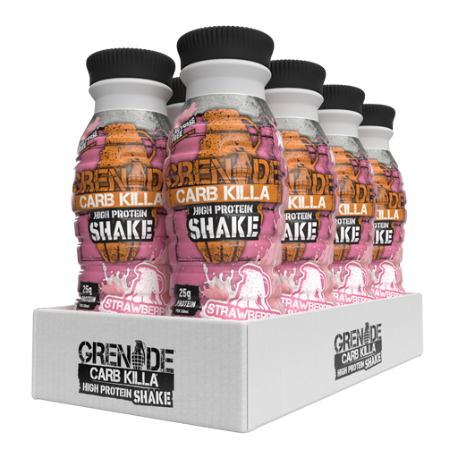 Grenade Strawberries & Cream Flavour Carb Killa Protein Shake 330ml - Case of 8 Multisave