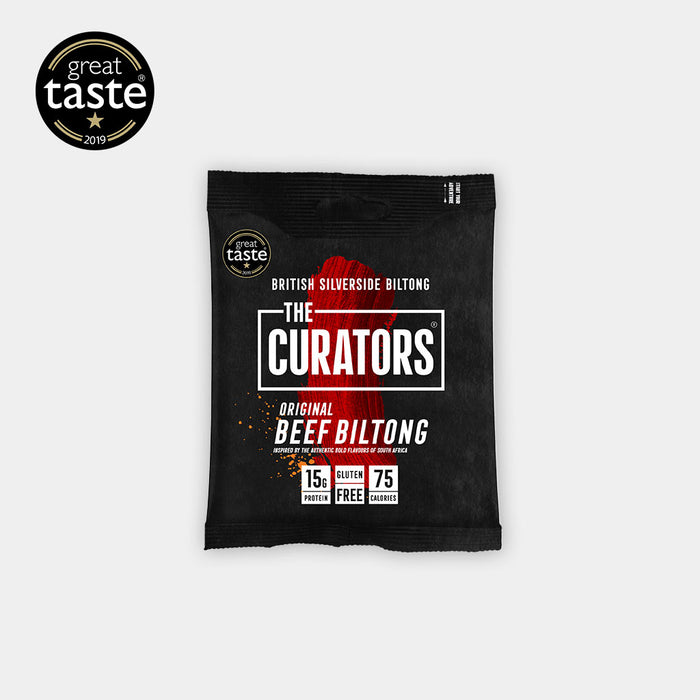 The Curators Original Beef Biltong 30g - Case of 5 Multisave (Best Before Date: 23/07/2020)
