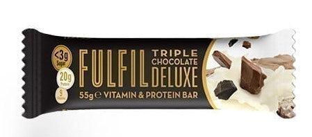 Fulfil Triple Chocolate Deluxe Vitamin & Protein bar 55g - Case of 15 Multisave
