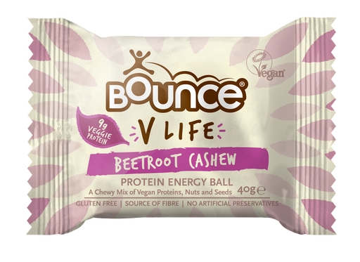 Bounce V-Life Cashew & Beetroot Protein Energy Ball 40g