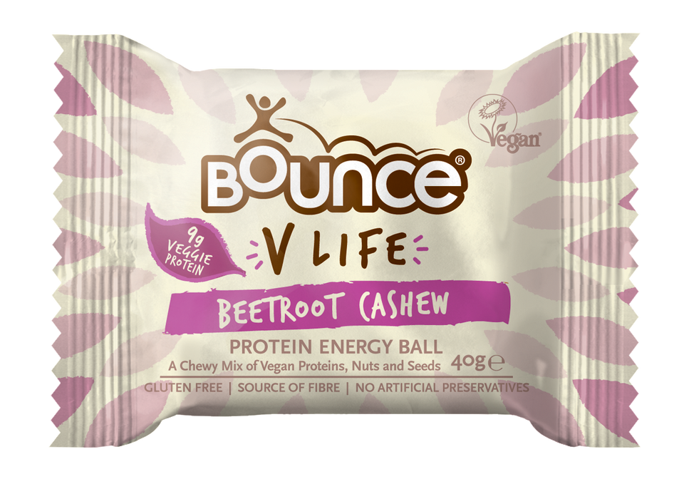 Bounce V-Life Cashew & Beetroot Protein Energy Ball 40g - Case of 12 Multisave