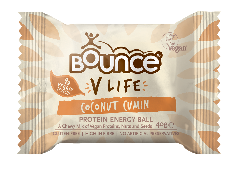 Bounce V-Life Coconut Cumin Protein Energy Ball 40g - Case of 12 Multisave
