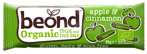Beond Organic Apple & Cinnamon Fruit & Nut Bar 35g