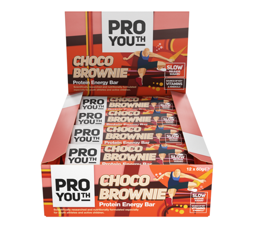 Pro Youth Choco Brownie Kids Protein Energy bar 60g - Case of 12 Multisave
