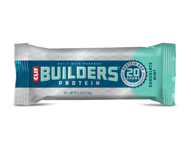 Clif Chocolate Mint flavour Builders Protein bar 68g