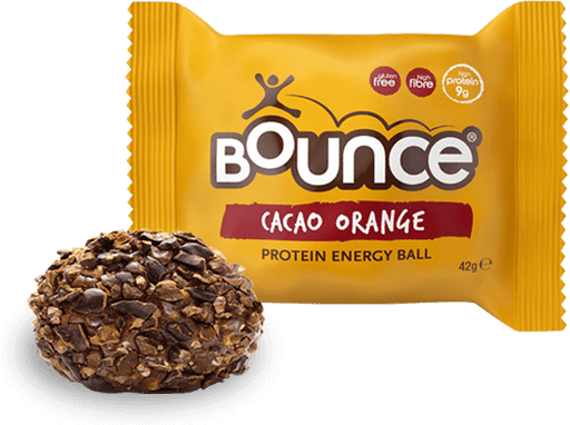 Bounce Cacao Orange Protein Energy ball 42g - Case of 20 Multisave (Best Before Date: 04/01/2020)