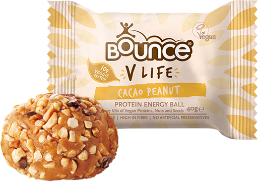 Bounce V-Life Cacao Peanut Protein Energy ball 40g - Case of 20 Multisave