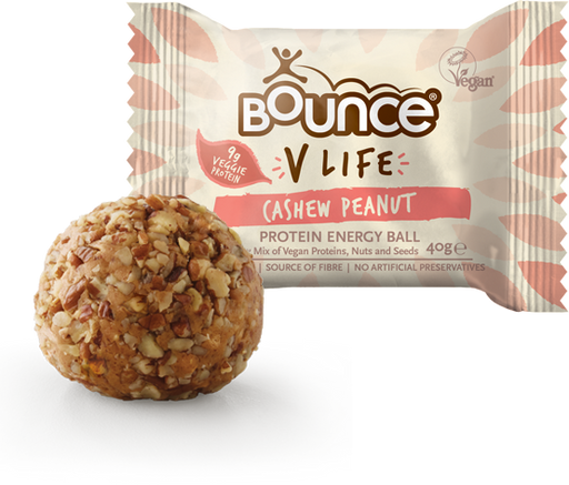 Bounce V-Life Cashew Peanut Protein Energy ball 40g - Case of 12 Multisave