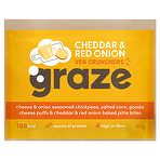 Graze Cheddar & Red Onion Veg Crunchers 25g - Case of 12 Multisave (Best Before Date: 27/11/2019)