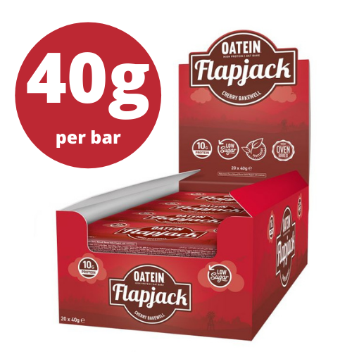 Oatein Cherry Bakewell Protein Flapjack 40g - Case of 20 Multisave