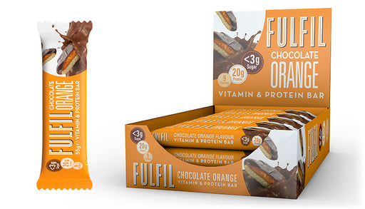 Fulfil Chocolate Orange Protein & Vitamin Bar 55g - Case of 15 bars Multisave