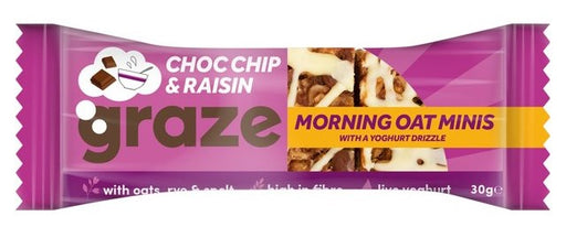 Graze Choc Chip & Raisin Oat Minis 30g - Case of 12 Multisave