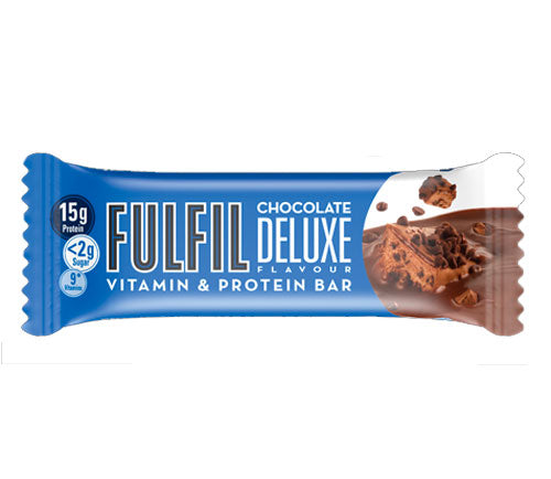 Fulfil Chocolate Deluxe Snack-Size Protein & Vitamin bar 40g - Case of 15 Multisave