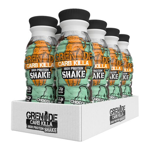 Grenade Chocolate Mint Carb Killa Protein Shake 330ml - Case of 8 Multisave (Best Before Date: 17/07/2020)