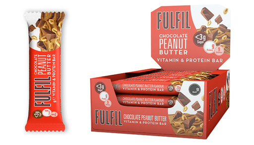 Fulfil Chocolate Peanut Butter Protein & Vitamin bar 40g - Case of 15 Multisave