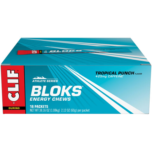 Clif Bloks Tropical Punch Energy Chews 60g - Case of 18 Multisave