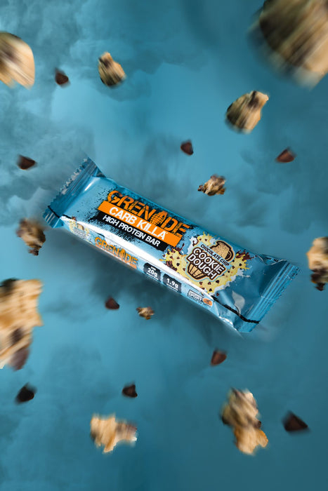 Grenade Chocolate Chip Cookie Dough Carb Killa protein bar 60g (Best Before Date: 31/07/2020)