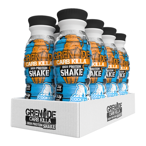 Grenade Cookies & Cream flavour Carb Killa Protein Shake 330ml - Case of 8 Multisave (Best Before Date: 20/08/2020)