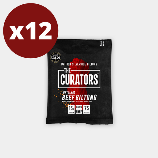 The Curators Original Beef Biltong 30g - Case of 12 Multisave (Best Before Date: 23/07/2020)