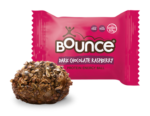 Bounce Dark Chocolate Raspberry Protein Energy Ball 40g (Best Before Date: 24/06/2019)