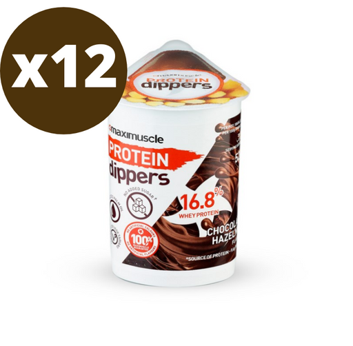 Maximuscle Chocolate Hazelnut Flavour Protein Dippers 52g - Case of 12 Multisave