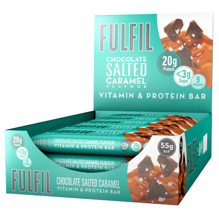 Fulfil Chocolate Salted Caramel Vitamin & Protein bar 55g - Case of 15 Multisave (Best Before Date: 17/03/2021)