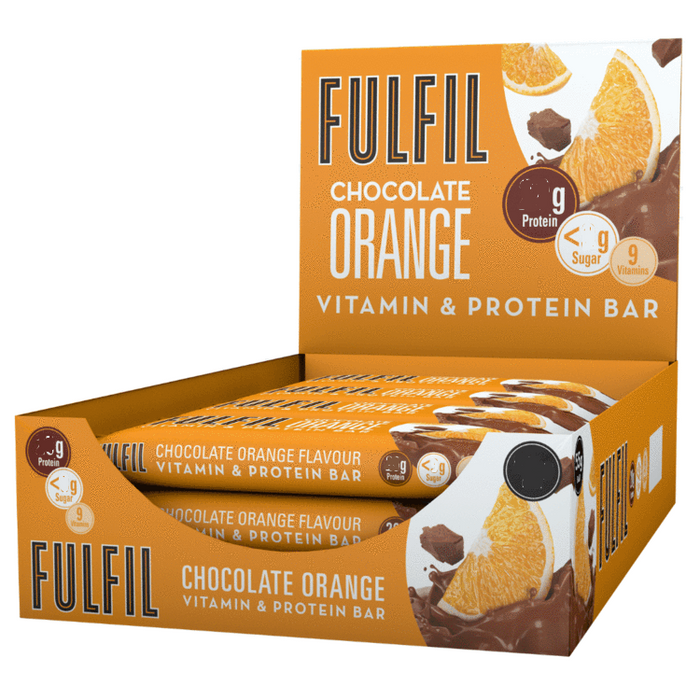 Fulfil Chocolate Orange Snack-Size Vitamin & Protein bar 40g - Case of 15 Multisave (Best Before Date: 16/01/2021)