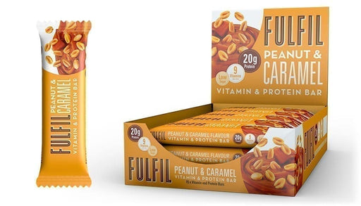 Fulfil Peanut & Caramel Protein and Vitamin Bar 55g - Case of 15 bars Multisave (Best Before Date: 09/09/2020)