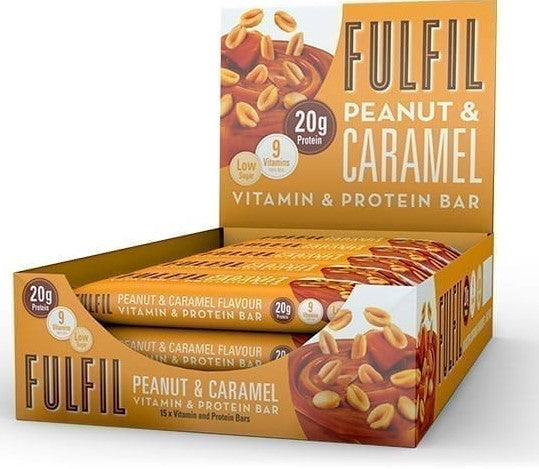 Fulfil Chocolate Peanut & Caramel Protein and Vitamin Bar 55g - Case of 15 bars Multisave (Best Before Date: 17/02/2021) - New recipe!