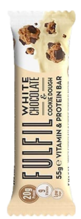 Fulfil White Chocolate & Cookie Dough Protein Vitamin Bar 55g - Case of 15 bars Multisave (Best Before Date: 14/03/2019)
