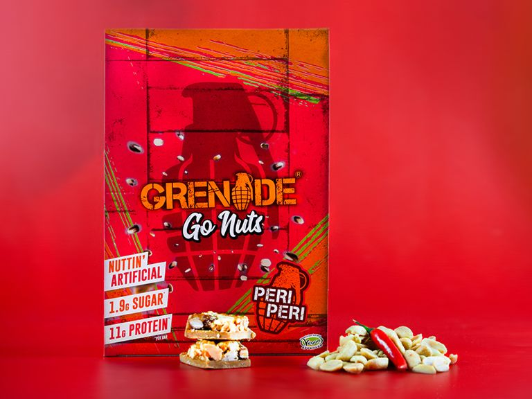 Grenade Go Nuts Spicy Peri Peri Nut bars 40g - Case of 15 Multisave