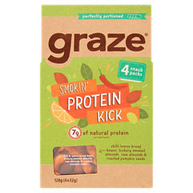 Graze Smokin' Protein Kick (4 x 32g snack packs)
