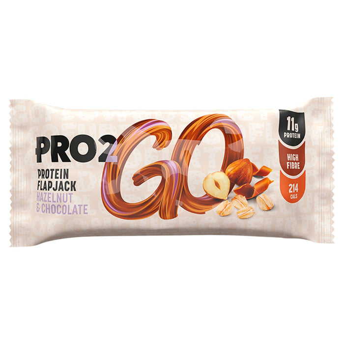 Pro2Go Hazelnut & Chocolate Protein Flapjack 50g (Best Before Date: 16/12/2020)