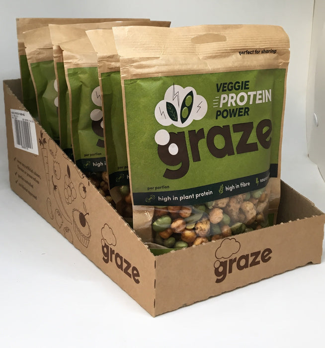 Graze Veggie Protein Power 128g - Case of 6 packs Multisave (Best Before Date: 18/03/2019)