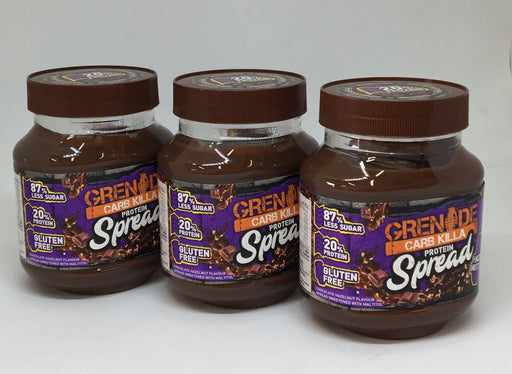 Grenade Hazel Nutter Carb Killa Protein Spread 360g - Case of 3 jars Multisave